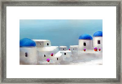 Visions Of Greece Framed Print by Larry Cirigliano