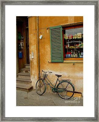 Framed Print featuring the photograph Visions Of Italy 4 by Nancy Bradley