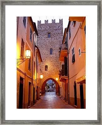 Framed Print featuring the photograph Visions Of Italy Archway by Nancy Bradley
