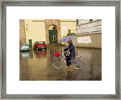 Framed Print featuring the photograph Visions Of Italy Lucca by Nancy Bradley