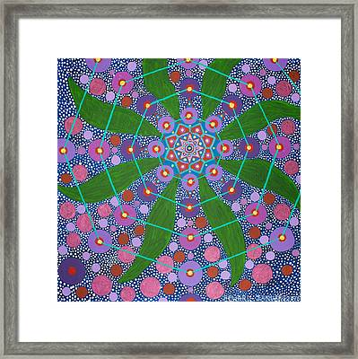 Visions Of The Amethyst Beyond  Framed Print