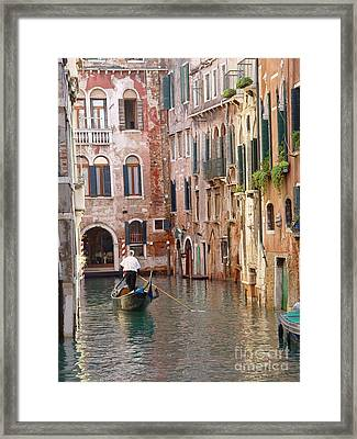Visions Of Venice 2. Framed Print by Nancy Bradley