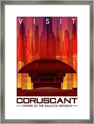 Visit Coruscant Framed Print