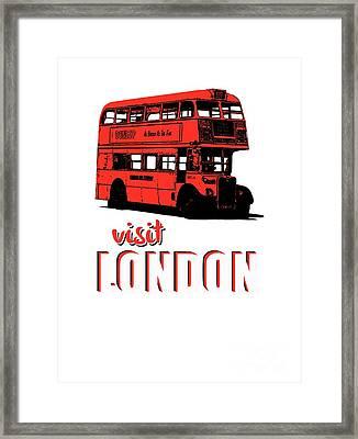 Visit London Tee Framed Print