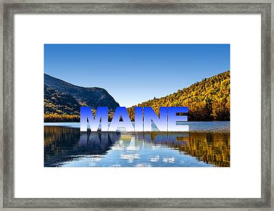 Framed Print featuring the photograph Visit Maine by Gary Smith