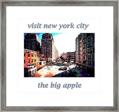 visit N Y C  retro poster  Framed Print by Enki Art