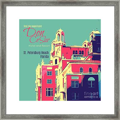Visit The Don Cesar Framed Print