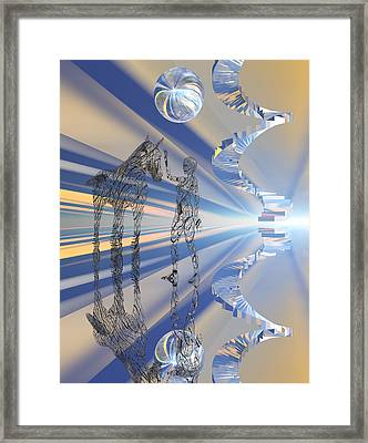 Visit To Horse Heaven Framed Print by Claude McCoy