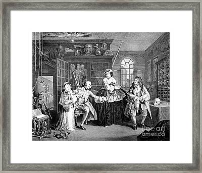 Visit To The Quack Doctor, 1745 Framed Print by Science Source