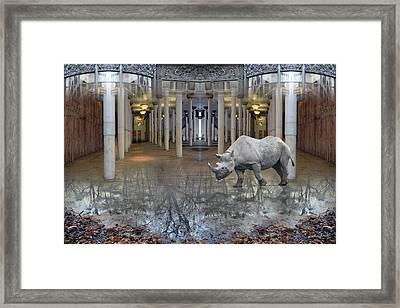 Visiting Framed Print