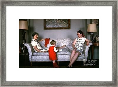 Visiting Mildred Framed Print