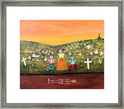 Visiting Our Loved Ones Framed Print by Sonia Flores Ruiz