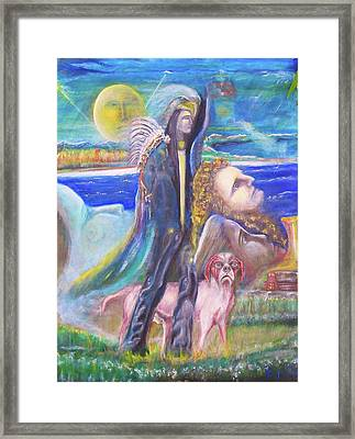 Visiting Star Beings Framed Print by Kicking Bear  Productions
