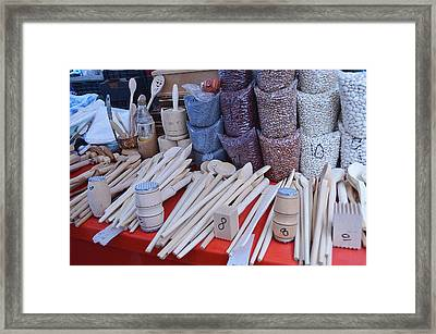 Visiting The Market Framed Print by Felicia Tica