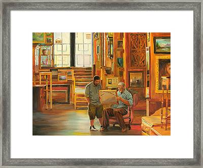 Visiting The Picture Man Framed Print
