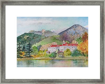 Visiting The Stanley Framed Print by Donlyn Arbuthnot