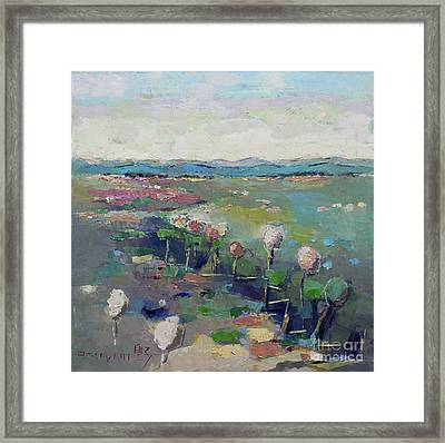 Visiting Town 1603 Framed Print by Becky Kim