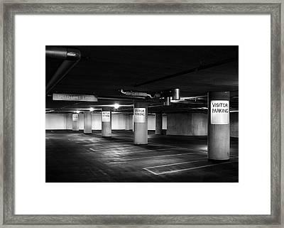 Visitor Parking Framed Print by Todd Klassy