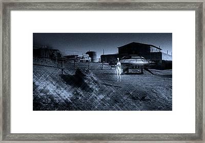 Visitor Framed Print by Raphael Terra