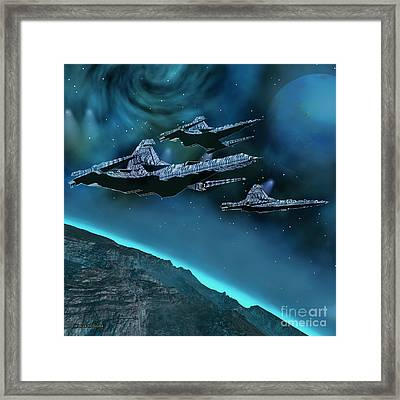 Visitors Framed Print by Corey Ford
