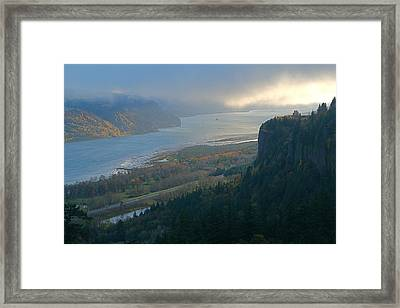 Vista House At Crown Point Framed Print
