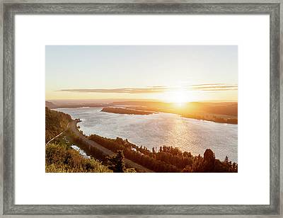Vista House Sunset Framed Print by Jason Clarke