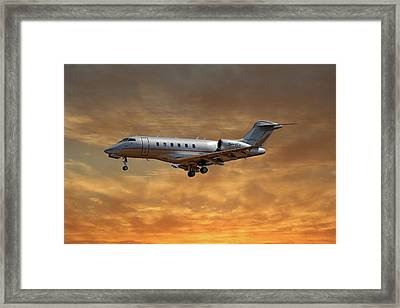 Vista Jet Bombardier Challenger 300 2 Framed Print