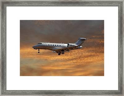 Vista Jet Bombardier Challenger 300 3 Framed Print