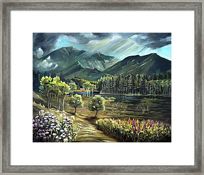 Vista View Of Cannon Mountain Framed Print