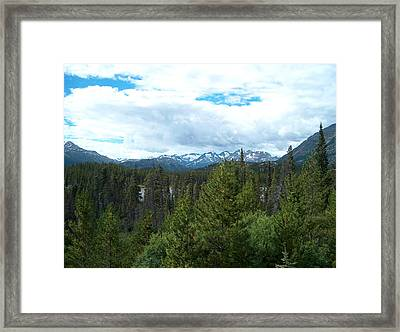 Vistas Along The Alcan Framed Print by Janet  Hall