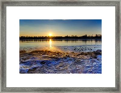 Vistula River Sunset 3 Framed Print