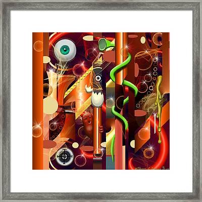 Visual Jazz Framed Print