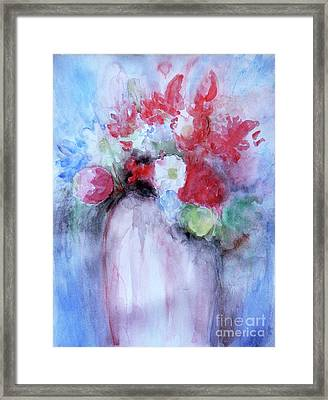 Framed Print featuring the painting Vitality Still Life by Jasna Dragun