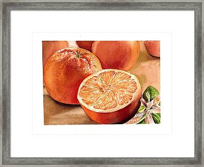 Vitamin C Framed Print by Irina Sztukowski