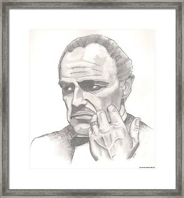 Vito Corleone Framed Print