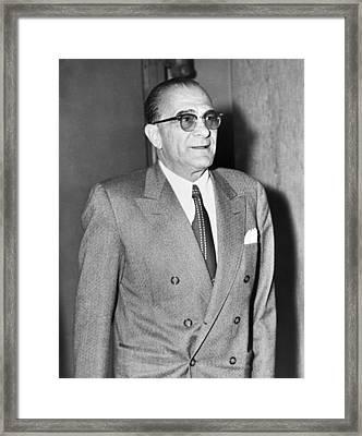 Vito Genovese 1897-1969, Boss Framed Print by Everett