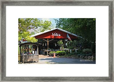 Vito's Farm Stand Framed Print