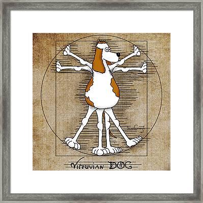 Vitruvian Dog Framed Print by Larry Scarborough