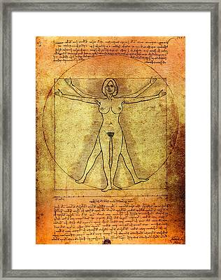 Vitruvian Woman Framed Print