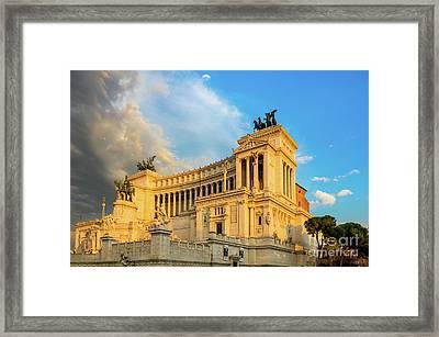 Vittoriano Altare Della Patria Framed Print by Inge Johnsson