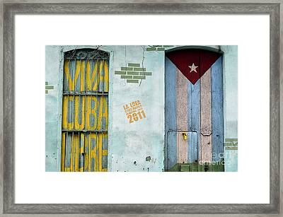 Viva Cuba Libre Framed Print