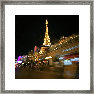 Viva La Tour Eiffel--las Vegas Framed Print by Daniel Furon