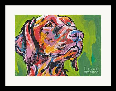 Modern Dog Art Framed Prints