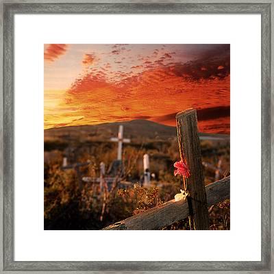 Viva Terlingua Framed Print by Rick Staudt
