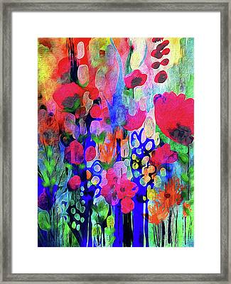 Vivacious Blooms Framed Print by Robin Mead