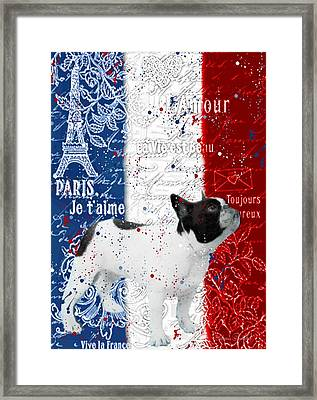 Vive Le Frenchie Framed Print by Barbara Chichester