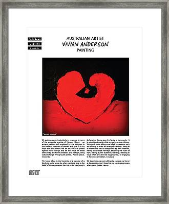Vivian Anderson - Published Framed Print by VIVA Anderson