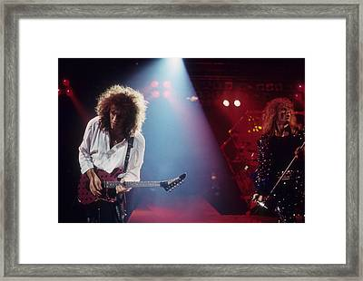 Vivian Campbell And David Coverdale Framed Print by Rich Fuscia