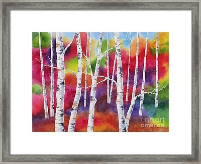 Vivid Autumn Framed Print by Deborah Ronglien