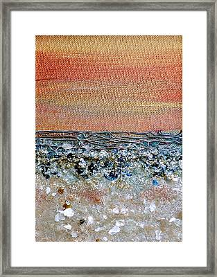 Vivid Beach Framed Print by Regina Valluzzi